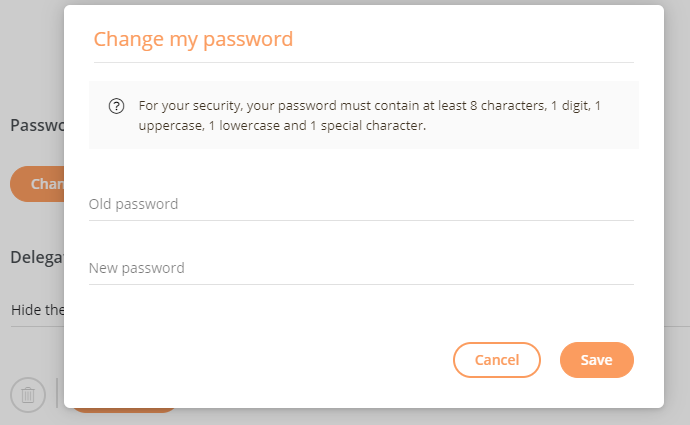 Change password on mailinblack